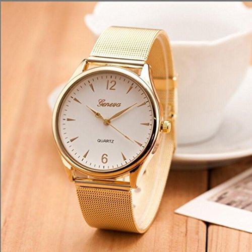 Women's Geneva Butterfly Rhinestone Stainless Steel Watch Gold - 1