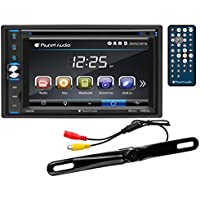 Planet Audio P9630BRC Double Din, Touchscreen, Bluetooth, DVD/CD/MP3/USB/SD AM/FM Car Stereo, 6.2 Inch Digital LCD Monitor,  Wireless Remote, Rearview License Plate Mount Camera Included