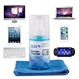 Screen Cleaner for Monitor LCD, LED, HDTVs, Plasma, Computers, Tablets, Phones and Gadgets with Microfiber Cloth
