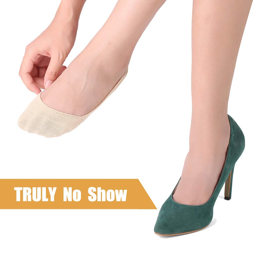 No Show Socks Women Shoes Style Socks Loafer Liners Thin Low Cut Casual Socks Non Slip 6 Pairs