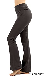 e176d3b9692c86 Amazon.com  Viosi Yoga Pants for Women Premium 250gsm Fold Over ...
