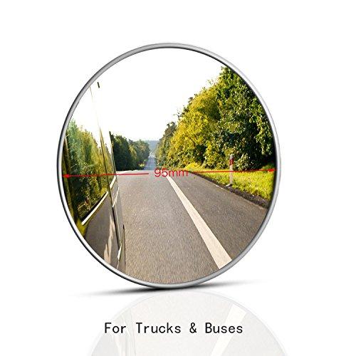 Misc Round Mirror - Blind Spot Mirror, SASUM 1 Pack 3 3/4