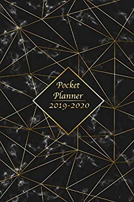 2019-2020 Calendar: Daily Weekly Monthly Calendar Planner Dec 2020 For Academic Agenda Schedule Organizer Logbook and Journal Notebook Planners with To To List Black Gold Cover For Men 24 Months Jan 2019