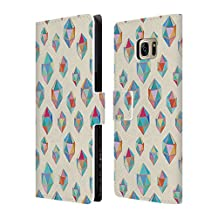 Official Micklyn Le Feuvre Floating Gems Patterns Leather Book Wallet Case Cover For Samsung Galaxy S4 mini I9190