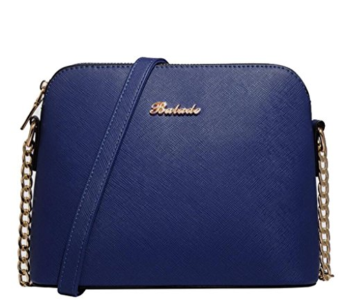 Bag chain single blue Work deep Diagonal Shoulder Shopping Bag Simple Shell span Women NVBAO 5qwXgz6