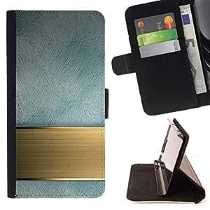 - Imitation Bronze Marble Stone - Estilo PU billetera de cuero del soporte del tir???¡¯???3n [solapa de cierre] Cubierta- For HTC One M9 ( Devil Case )