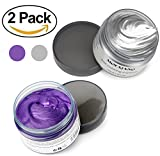 #7: Pack 2 Gray and Purple MofaJang Hair Wax Professional Temporary Modeling Natural Hair Styling Wax Dye for Party Cosplay or Nightclub Hairstyle Cream Washable