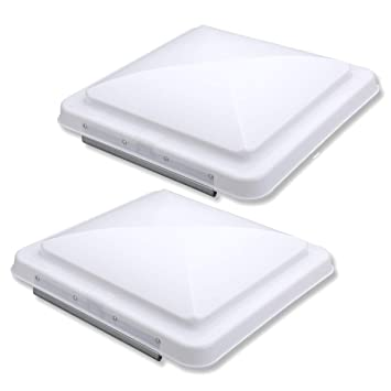 TOOGOO 2 Packs Universal Rv Roof Vent Lid Cover Replacement 14 for Trailer Rv