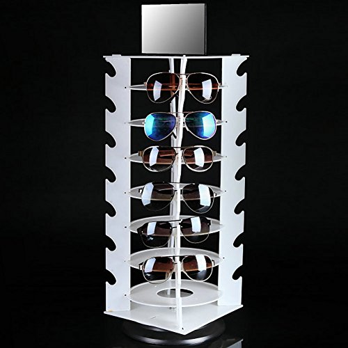 White sunglasses display plastic eyeglass display rack Europe America hot sale glasses frame organizer ()