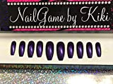 Just Purple Hand Designed Nail Set