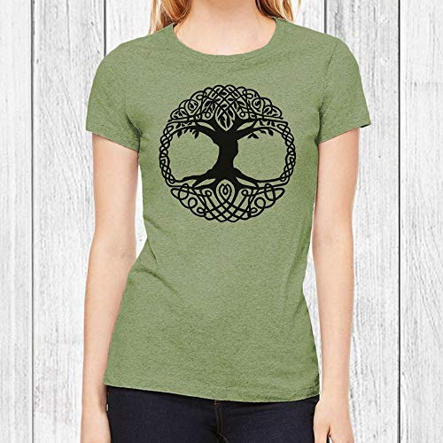 Graphic T Shirts for Women Celtic Tree of Life Tshirt Junior Fit Tee 6 Colors