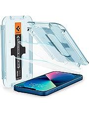 Spigen Glas.tR EZ Fit Screenprotector compatibel met iPhone 13 Mini, 2 Stuks, met Sjabloon voor Installatie, Kristalhelder, Case friendly, 9H Gehard Glas