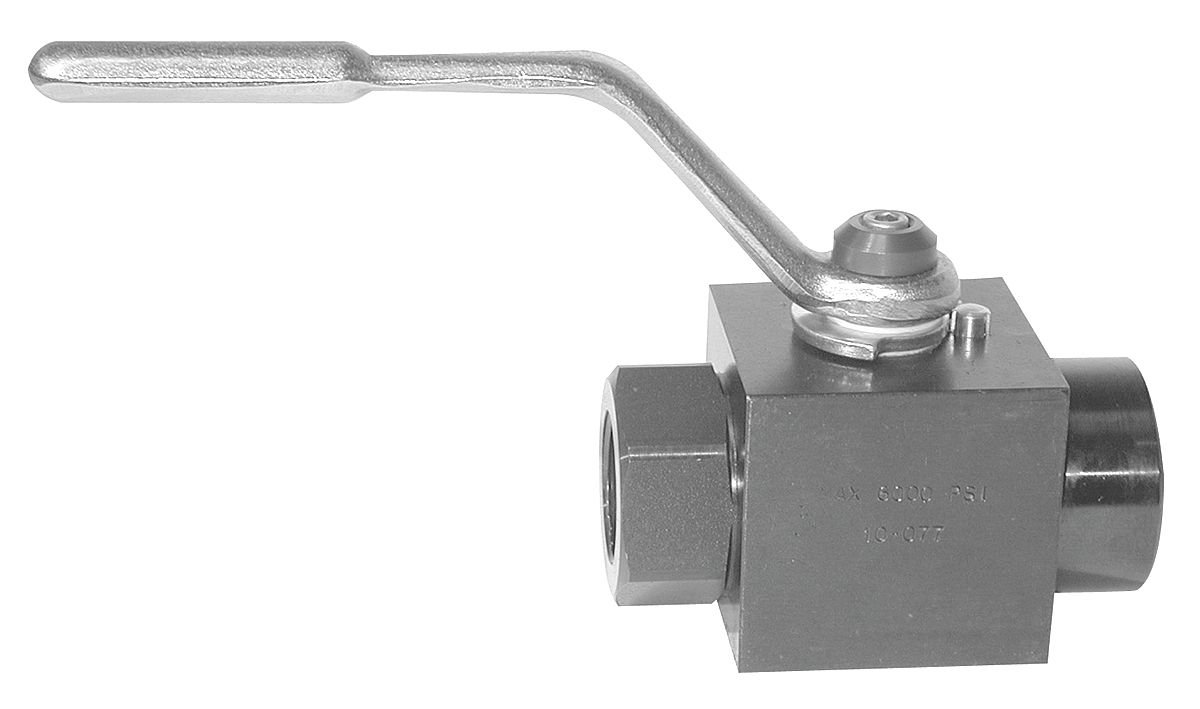 Parker Hannifin BVHP04SSS1N Standard Handle Hydraulic Ball Valve with SAE #4 Port Size