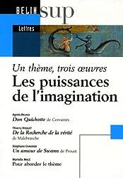 Les puissances de l'imagination : Un thème, trois oeuvres : Don Quichotte de Cervantès ; De la Recherche de la vérité de Malebranche ; Un amour de Swann de Proust