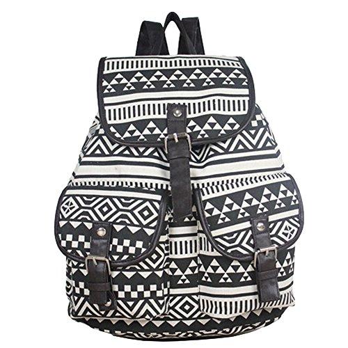 BLUBOON(TM) New Fashion Women Girls Vintage Cute Bags Canvas Schoolbag Travel Backpack Bookbag Leisure Backpack School Bag (21014)