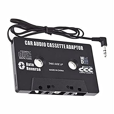 Audio AUX Car Cassette Tape Adapter Converter 3.5 MM for iPhone iPod MP3 CD DT from Freecar