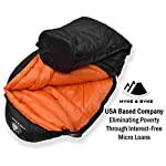 "Hyke & Byke Eolus 15 & 30 Degree F 800 Fill Power Hydrophobic Goose Down Sleeping Bag with ClusterLoft Base - Ultra Lightweight 3 Season Men's and Women's Mummy Bag Designed for Backpacking 12 SAVE SPACE and SHAVE WEIGHT - Our new 2019 model is designed to maximize durability, warmth, and water resistance. Our quest for the perfect solution led us to utilize Hydrophobic 800 FP Goose Down with a revolutionary ClusterLoft base. ClusterLoft performs better than down for durability under compression and moisture resistance. It has been called ""the closest synthetic insulation to natural down ever developed"" due to its performance and its construction mimicking natural down clusters. STAY WARM and DRY as a result of Hydrophobic Goose Down insulation capabilities and water-resistant DWR fabrics - the microscopic air clusters found in down feathers creates ""loft"" that traps heat and keeps you warm for cool weather camping. HIKE FARTHER with the LIGHTEST MUMMY DOWN SLEEPING BAG available for this quality at the price. Summit any mountain or camp by the summer sea with these compact bags and have room for carrying your favorite fleece blanket or silk liner, goose filled pillow, and pad. Weighs ONLY: Short: 1.94 / 2.44 lbs; Regular: 2.05 / 2.62 lbs; Long: 2.16 / 2.80 lbs for the 30 / 15 °F bags, respectively. Compare to other brands to see the price difference we achieve through direct-to-consumer sales."