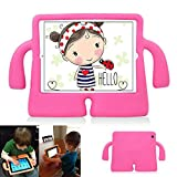Y&M(TM) iPad 2/3/4 Case kids,Drop-proof Shockproof iPad Cover Case with Kickstand Kids Safety Protective Tablets PC Shell MID Case for ipad 2/3/4(Rose)