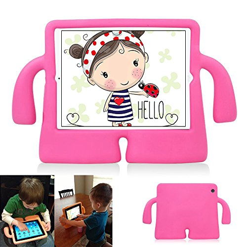 iPad 2/3/4 Case Kids,Drop-Proof Shockproof iPad Cover Case with Kickstand Kids Safety Protective Tablets PC Shell MID Case for ipad 2/3/4(Rose) by Y&M(TM)