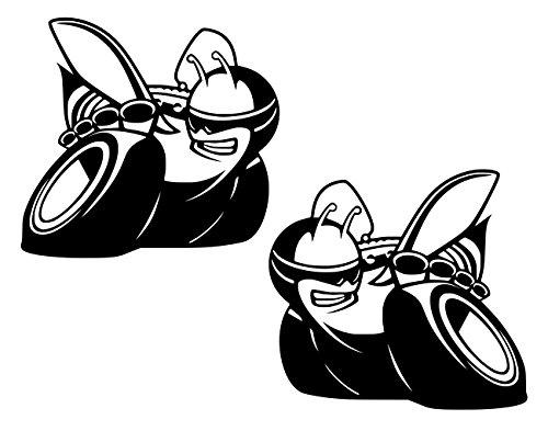 UR Impressions MBlk 2.6in. LF-RF Scat Pack Bee 2-Pack Decal Vinyl Sticker Graphics for Cars Trucks SUV Vans Walls Windows Laptop Matte Black 2.6 Inch URI637-MB (Black Scat Vinyl)