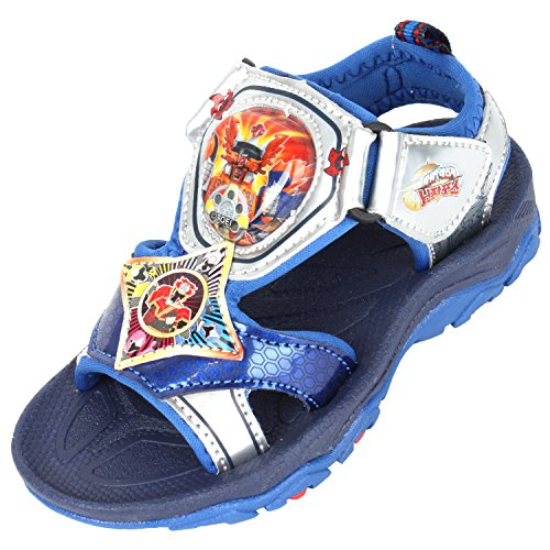 Power Rangers Ninja Force Boys Light Up Blue Sandals Shoes (Parallel Import/Generic Product) (12 M US Little Kid) ()