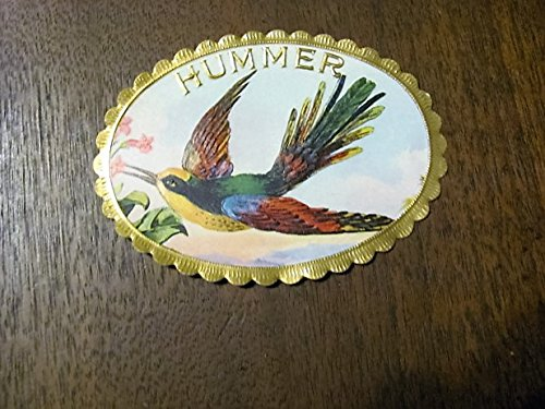 HUMMER oval cigar box label, 1920s, rare, very few left