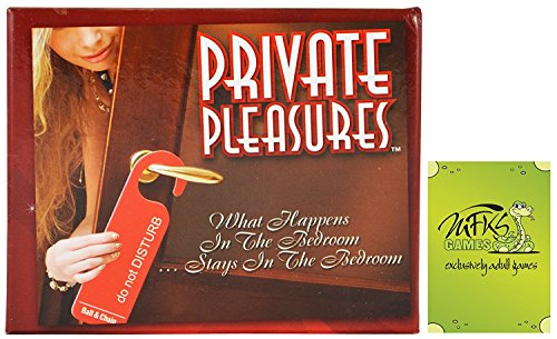 Private Pleasures | Card and Dice Game | Couples Party Game | (Dice Dares)