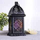 HJUNS Moroccan style Hanging glass Tealight lantern