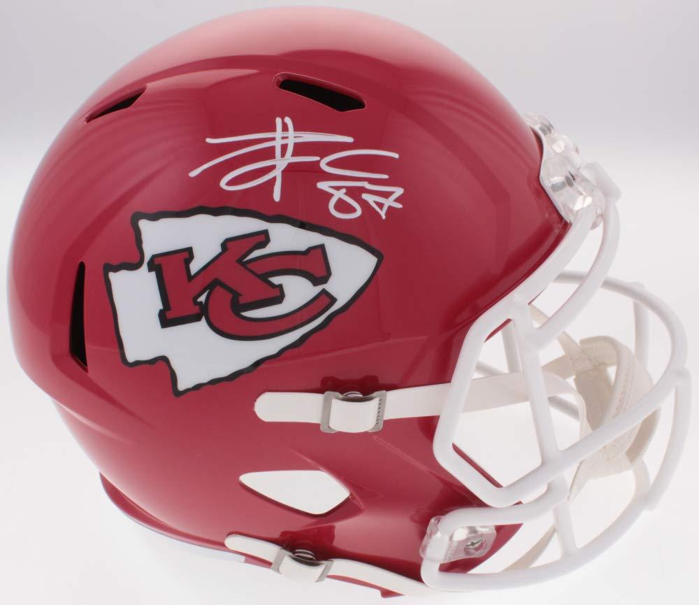 Travis Kelce Kansas City Chiefs Signed Autograph Full Size Speed Helmet JSA Witnessed Certified