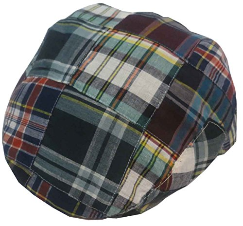 Capas Ivy Madras Patchwork Cap, Navy, Medium -  Capas Headwear