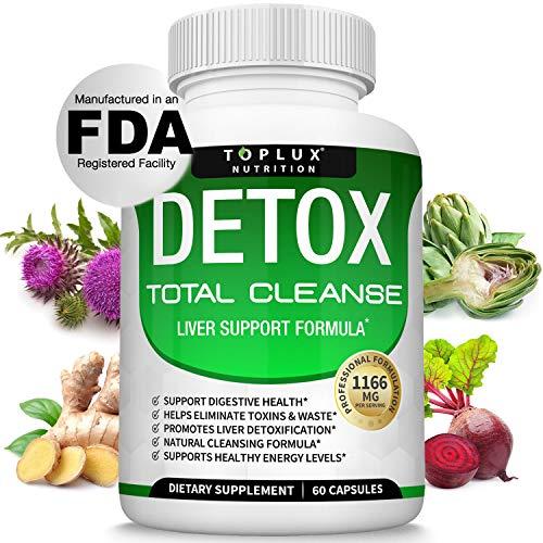 Detox Cleanse Liver Colon Cleanser Body Detoxifier – Natural 5 Day Detox, Support Digestion System, Flush Toxins…