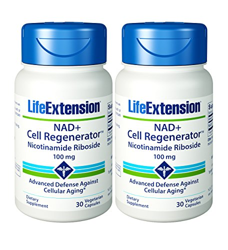 Life Extension Nad+ Cell Regenerator Nicotinamide Riboside Capsules, 30 Count (2 Pack)