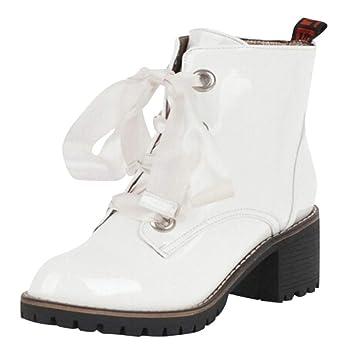Botas Zapatos de mujer Botines Botas de mujer Punta Redonda Calzado casual Botas de mujer Botas ...