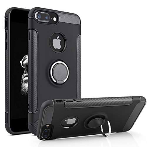 Besiva Phone Case Compatible iPhone 8 Plus, iPhone 7 Plus, Case with 360 Degree Swivel Ring Kickstand Anti Scratch Durable Soft Protective Case Compatible iPhone 7 Plus, iPhone 8 Plus, BB3