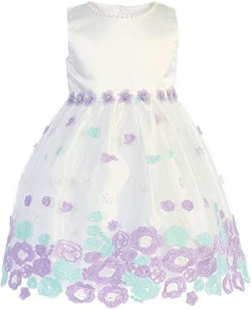 Lito Baby Girls Boys White Silk Heirloom Gown Bonnet Set Baptism Set 0-18M