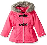 Limited Too Big Girls' Quilted Toggle Fleece Jackets, Pink, 7/8