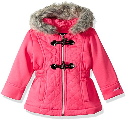 Limited Too Big Girls' Too Diamond Quilt Toggle Fleece JKT, Pink, (Big Toggle)