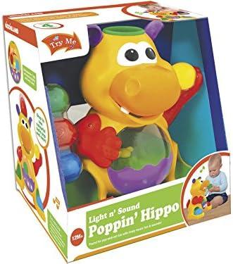 RIDE TRIKE Hipopótamo Tragabolas con Luz y Sonidos 28x26x20cm: Amazon.es: Juguetes y juegos