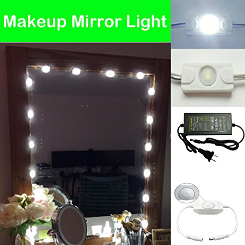 Toogod 20W Make up Mirror LED Light Kit for Makeup Vanity Mirror,Included Power Adapter and Brightness Dimmer
