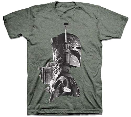 Star Wars Boba Fett Profile Mens T-Shirt (Large)