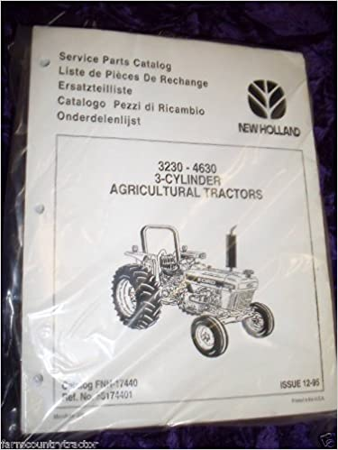 New Holland 3230/4630 Agricultural Tractor OEM Parts Manual