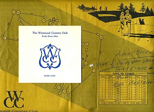 Westwood Country Club Golf Score Card & Placemat Rocky River Ohio from Generic