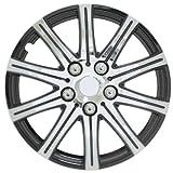 "Pilot Automotive WH528-14SE-BX Stick Silver 14"" Wheel Cover with Black Accent, (Set of 4)"