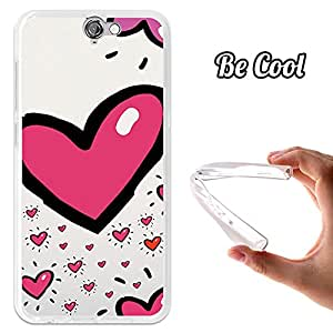 BeCool® - Funda Gel Flexible HTC One A9 San Valentín Corazon Carcasa Case Silicona TPU Suave