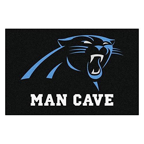 Carolina Panthers Nfl Starter (FANMATS 14277 NFL Carolina Panthers Nylon Universal Man Cave Starter Rug)