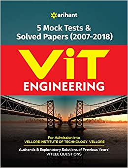 Buy 5 Mock Tests and Solved Papers for VIT Engineering Book Online