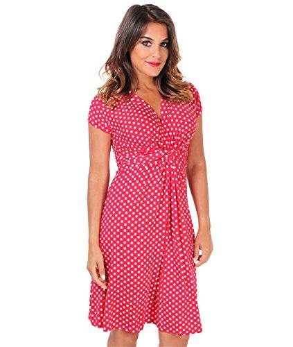 Knot Jersey Dress (Deep V-Neck Knot Front Summer Dress)