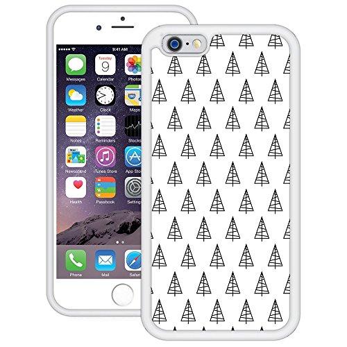 Weihnachtsbäume | Handgefertigt | iPhone 6 6s (4,7') | Weiß TPU Hülle