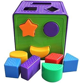 Amazon.com : Plastic Square Shape Match Sorting Cube ...