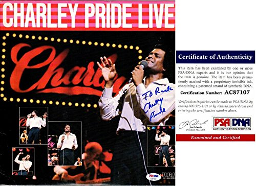Charley Pride Signed - Autographed Album Cover with Certificate of Authenticity (COA) with LP Vinyl Record Album - PSA/DNA Certified